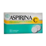 ASPIRINA 500 MG COMPRESSE -  400 MG COMPRESSE EFFERVESCENTI CON VITAMINA C 10 COMPRESSE