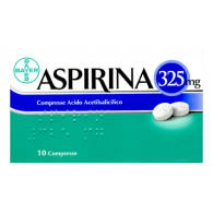 ASPIRINA 325 MG COMPRESSE -  325 COMPRESSE 10 COMPRESSE