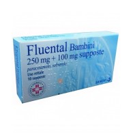 FLUENTAL - BAMBINI 250 MG + 100 MG SUPPOSTE 10 SUPPOSTE