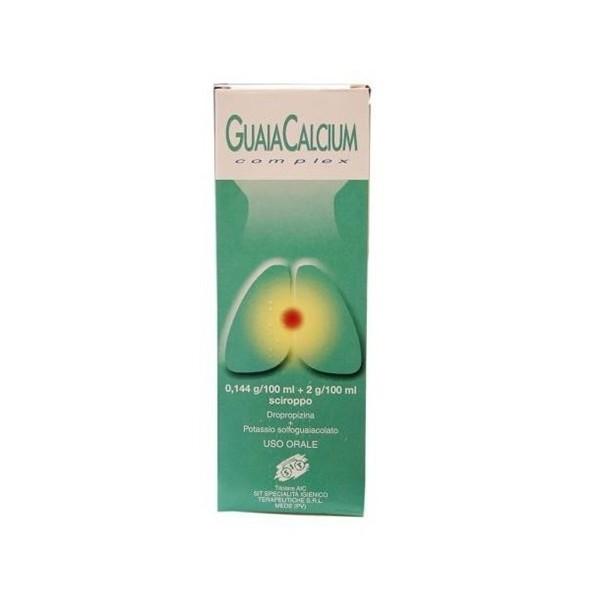 GUAIACALCIUM COMPLEX 0,144 G/100 ML + 2 G/100 ML SCIROPPO -  0,144 G/100 ML + 2 G/100 ML SCIROPPO FLACONE 200 ML