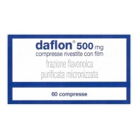 DAFLON 500 MG COMPRESSE RIVESTITE CON FILM -  500 MG COMPRESSE RIVESTITE CON FILM 60 COMPRESSE