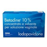 BETADINE® -  10% CONCENTRATO E SOLVENTE PER SOLUZIONE VAGINALE 5 FLACONI 140 ML + 5 FIALOIDI 10 ML + 5 CANNULE