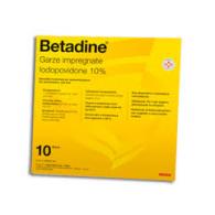 BETADINE soluzione cutanea, alcolica BETADINE gel BETADINE collutorio BETADINE garze impregnate -  10% GARZE IMPREGNATE 10 G...