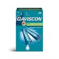 GAVISCON -  500 MG/10 ML + 267 MG/10 ML SOSPENSIONE ORALE AROMA MENTA 24 BUSTINE MONODOSE DA 10 ML