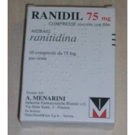 RANIDIL 75 MG COMPRESSE RIVESTITE CON FILM - 75 MG COMPRESSE RIVESTITE 10 COMPRESSE
