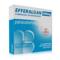 EFFERALGAN 500 mg compresse effervescenti -  500 MG COMPRESSE EFFERVESCENTI 16 COMPRESSE