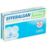 EFFERALGAN supposte - PRIMA INFANZIA 150 MG SUPPOSTE 10 SUPPOSTE