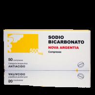 SODIO BICARBONATO NOVA ARGENTIA 500 MG COMPRESSE -  500 MG COMPRESSE 50 COMPRESSE