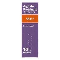 ARGENTO PROTEINATO ALMUS -  0,5% GOCCE NASALI E AURICOLARI, SOLUZIONE FLACONE 10 ML