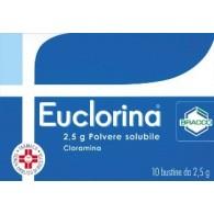 EUCLORINA 2,5 G POLVERE SOLUBILE -  2,5 G POLVERE SOLUBILE 10 BUSTINE