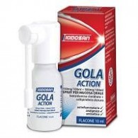 GOLA ACTION -  150 MG/100 ML + 500 MG/100 ML SPRAY PER MUCOSA ORALE 1 FLACONE 10 ML