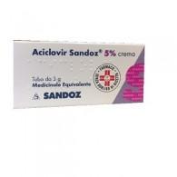 ACICLOVIR SANDOZ 5% CREMA -  5% CREMA TUBO DA 3 G
