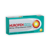 NUROFEN INFLUENZA E RAFFREDDORE 200 MG + 30 MG COMPRESSE RIVESTITE -  200 MG + 30 MG COMPRESSE RIVESTITE 12 COMPRESSE RIVESTITE