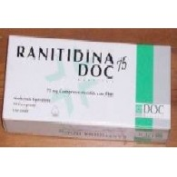 RANITIDINA DOC GENERICI -  75 MG COMPRESSE RIVESTITE CON FILM 10 COMPRESSE