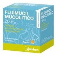 FLUIMUCIL MUCOLITICO -  200 MG GRANULATO PER SOLUZIONE ORALE SENZA ZUCCHERO 30 BUSTINE
