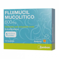 FLUIMUCIL MUCOLITICO - 600 MG GRANULATO PER SOLUZIONE ORALE SENZA ZUCCHERO, 10 BUSTINE