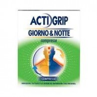 ACTIGRIP GIORNO &amp NOTTE COMPRESSE -  500 MG + 60 MG COMPRESSE 12 COMPRESSE GIORNO + 500 MG + 25 MG COMPRESSE 4 COMPRESSE ...