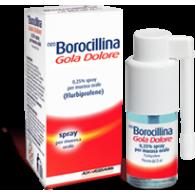 NEO BOROCILLINA GOLA DOLORE - 0,25% SPRAY PER MUCOSA ORALE GUSTO MENTA, 1 FLACONE DA 15 ML