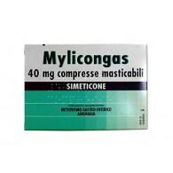 MYLICONGAS 40 MG COMPRESSE MASTICABILI -  40 MG COMPRESSE MASTICABILI 50 COMPRESSE