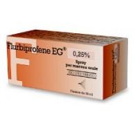 FLURBIPROFENE EG -  0,25% SPRAY PER MUCOSA ORALE  FLACONE DA 15 ML