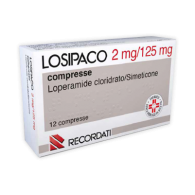 LOSIPACO 2 MG/125 MG COMPRESSE - 2 MG + 125 MG COMPRESSE 12 COMPRESSE IN BLISTER PVC/PVDC/AL