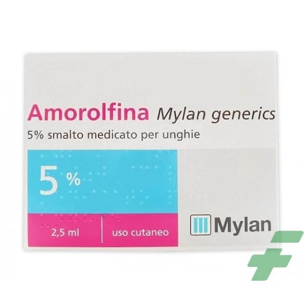 AMOROLFINA MYLAN GENERICS 5% SMALTO MEDICATO PER UNGHIE -  5% SMALTO MEDICATO PER UNGHIE 1 FLACONE IN VETRO DA 2,5 ML