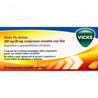 VICKS FLU ACTION 200 MG/30 MG COMPRESSE RIVESTITE CON FILM - 200 MG/30 MG COMPRESSE RIVESTITE CON FILM 12 COMPRESSE IN BLISTER