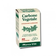 CARBONE VEGETALI 40 COMPRESSE