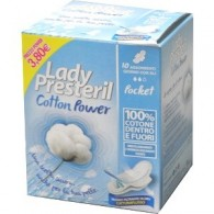 LADY PRESTERIL COTTON POWER POCKET ASSORBENTI GIORNO ALI RIPEGATI PROMO 10 PEZZI