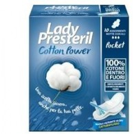 LADY PRESTERIL COTTON POWER ASSORBENTI NOTTE POCKET CON ALI RIPIEGATI PROMO 10 PEZZI