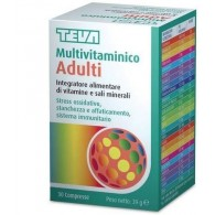MULTIVITAMINICO ADULTI TEVA 30 COMPRESSE 30 G