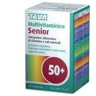 MULTIVITAMINICO SENIOR TEVA 30 COMPRESSE 39 G