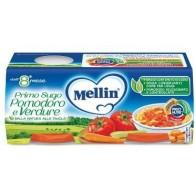 MELLIN PRIMO SUGO POMODORO E VERDURE 2 VASETTI DA 80 G