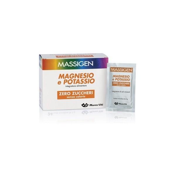 MASSIGEN MAGNESIO POTASSIO SENZA ZUCCHERO IN BUSTINA CON ASTUCCIO 24+6 BUSTINE