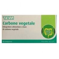 CARBONE VEGETALE TEVA 40 COMPRESSE 16,2 G