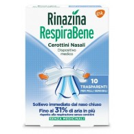 RINAZINA RESPIRABENE CEROTTI NASALI TRASPARENTI CARTON 10 PEZZI