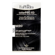 EUPHIDRA COLORPRO XD 100 NERO GEL COLORANTE CAPELLI IN FLACONE + ATTIVANTE + BALSAMO + GUANTI