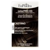 EUPHIDRA COLORPRO XD 400 CASTANO GEL COLORANTE CAPELLI IN FLACONE + ATTIVANTE + BALSAMO + GUANTI