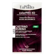 EUPHIDRA COLORPRO XD 465 CAST RUBINO GEL COLORANTE CAPELLI IN FLACONE + ATTIVANTE + BALSAMO + GUANTI
