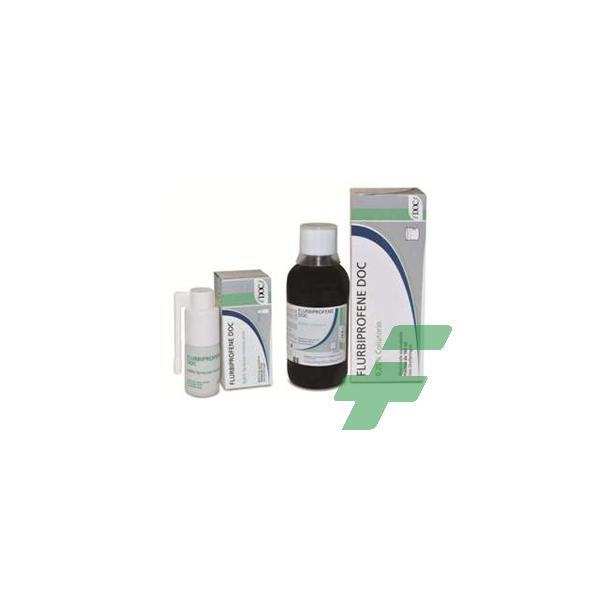 FLURBIPROFENE DOC 0,25% -  0,25% SPRAY PER MUCOSA ORALE FLACONE 15 ML