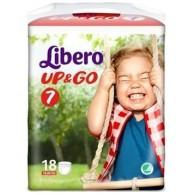 LIBERO UP&GO PANNOLINO PER BAMBINO TAGLIA 7 4X18 PEZZI