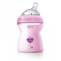 CHICCO BIBERON NATFEEL 2M+ GIRL 250 ML