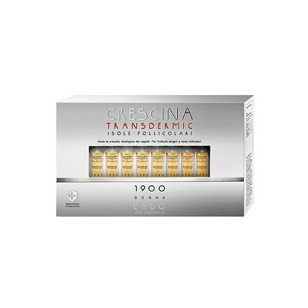 CRESCINA TRANSDERMIC ISOLE FOLLICOLARI 1900 DONNA 20 FIALE DA 3,5 ML