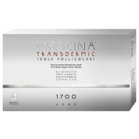 TRATTAMENTO COMPLETO CRESCINA TRANSDERMIC ISOLE FOLLICOLARI 1700 UOMO 20+20 FIALE DA 3,5 ML