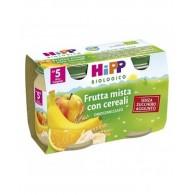 HIPP BIO OMOGENEIZZATO FRUTTA MISTA CON CEREALI 2X125 G - 1