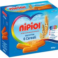 NIPIOL BISCOTTINI 6 CEREALI 800 G - 1