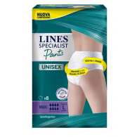 LINES SPECIALIST PANTS MAXI L X 8 PANNOLONE MUTANDINA INDOSSABILE COME NORMALE BIANCHERIA TIPO PULL-ON - 1